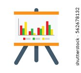 presentation whiteboard with...   Shutterstock .eps vector #562678132