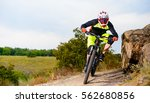 professional cyclist riding the ... | Shutterstock . vector #562680856