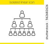 company hierarchy concept...   Shutterstock .eps vector #562682626