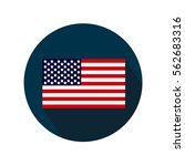 american flag with a long... | Shutterstock .eps vector #562683316