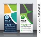 roll up brochure flyer banner... | Shutterstock .eps vector #562684252