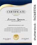 certificate template.luxury... | Shutterstock .eps vector #562685506