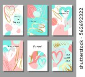 valentine s day creative... | Shutterstock .eps vector #562692322