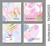 valentine s day creative...   Shutterstock .eps vector #562692325
