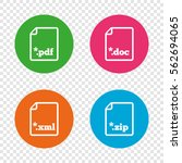 download document icons. file... | Shutterstock .eps vector #562694065