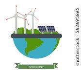 illustration of a wind turbines ... | Shutterstock .eps vector #562695862