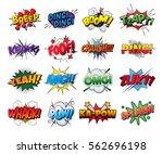 set vector comic sound effects...   Shutterstock .eps vector #562696198