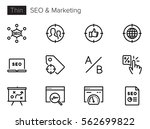 seo optimization and marketing... | Shutterstock .eps vector #562699822
