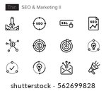 seo optimization and marketing... | Shutterstock .eps vector #562699828
