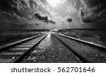 conceptual black and white... | Shutterstock . vector #562701646