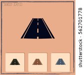 road icon  vector | Shutterstock .eps vector #562701778