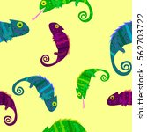 seamless pattern with colorful...   Shutterstock .eps vector #562703722