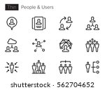 users  avatars  people thin... | Shutterstock .eps vector #562704652