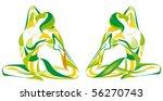 fitness yoga | Shutterstock .eps vector #56270743
