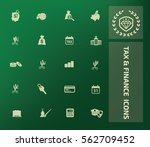 tax and finance icon set clean... | Shutterstock .eps vector #562709452