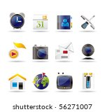 mobile phone and computer icons ... | Shutterstock .eps vector #56271007