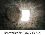 Empty Tomb Of Jesus With Light...