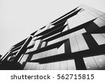glass facade of a modern office ... | Shutterstock . vector #562715815