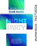 vertical color night party... | Shutterstock .eps vector #562718326