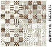 vector graphic vintage textures ... | Shutterstock .eps vector #562718992