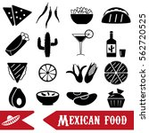 mexican food theme set of... | Shutterstock .eps vector #562720525