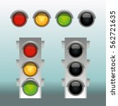 traffic lights in two modes... | Shutterstock .eps vector #562721635