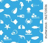 seafood and fish food theme set ... | Shutterstock .eps vector #562723036