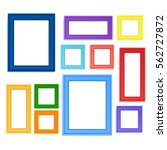 multi colored photo frames for... | Shutterstock .eps vector #562727872