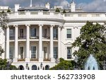 the white house in washington... | Shutterstock . vector #562733908