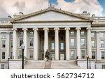 the treasury department in... | Shutterstock . vector #562734712