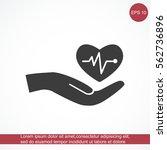cardiogram vector icon | Shutterstock .eps vector #562736896