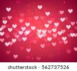 valentine's pink love... | Shutterstock .eps vector #562737526