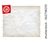 vector crumpled lined paper and ... | Shutterstock .eps vector #562738255