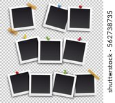 set of square frame template... | Shutterstock .eps vector #562738735