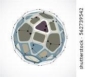 vector dimensional wireframe...   Shutterstock .eps vector #562739542