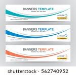 abstract web banner design... | Shutterstock .eps vector #562740952