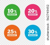 sale discount icons. special... | Shutterstock .eps vector #562745452