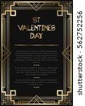 vintage retro style invitation  ... | Shutterstock .eps vector #562752256