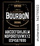 typeface. label. bourbon... | Shutterstock .eps vector #562755022