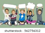 children smiling happiness... | Shutterstock . vector #562756312