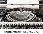 Retro Old Typewriter With Pape...
