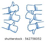 set of different hands showing... | Shutterstock .eps vector #562758352