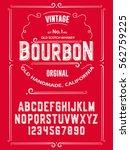 typeface. label. bourbon... | Shutterstock .eps vector #562759225