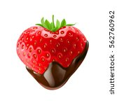 strawberry with chocolate... | Shutterstock .eps vector #562760962