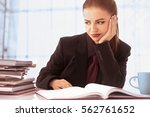 Small photo of Businesswoman in problems. Alone working in office with a lot of documents. Yelling and screaming for bad results. (psychological portrait, aggression, anger, frustration)