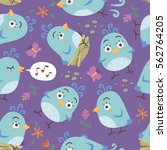 vector cartoon style birds...   Shutterstock .eps vector #562764205