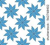 abstract seamless vector flower ... | Shutterstock .eps vector #562768402