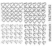 hand drawn heart set  a... | Shutterstock .eps vector #562769182