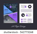 a4 flyer polygonal brochure ... | Shutterstock .eps vector #562773268