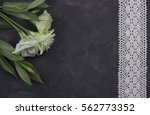 flowers and decorative tape on...   Shutterstock . vector #562773352
